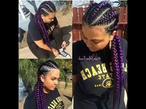 Best Jumbo Cornrow Hairstyles For Black Women – Youtube Regarding Current Jumbo Cornrows Hairstyles (View 13 of 15)