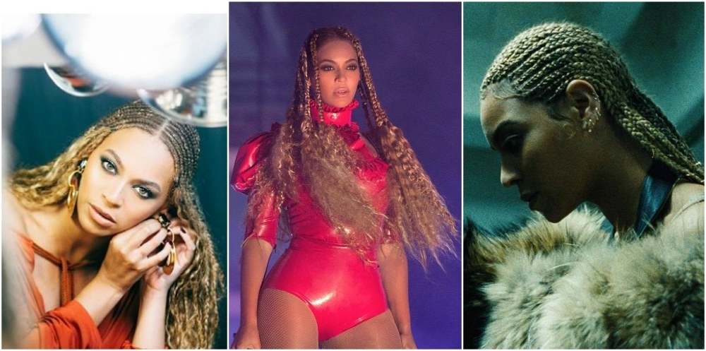 Beyonce's Hair Timeline: From Straight To Wavy Hairstyles With Best And Newest Beyonce Braided Hairstyles (View 14 of 15)