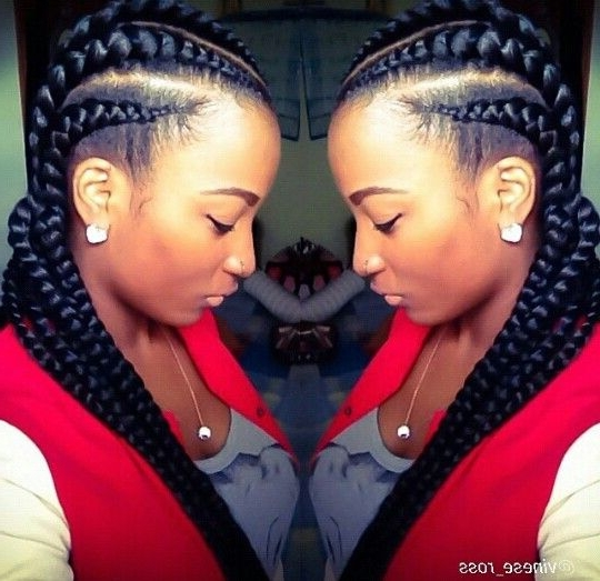 Big Chunky Cornrows So Cute Hair Most Delightful Of Big Braids Within Most Recent Chunky Cornrows Hairstyles (View 9 of 15)
