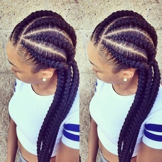 Big Cornrows Braids Hairstyles – Page 4 – The Best Hair Style In Pertaining To Newest Big Cornrows Hairstyles (View 9 of 15)