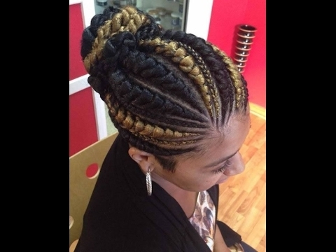 Big Cornrows Hairstyles : Beautiful Cornrows For Ladies – Youtube Throughout Most Current Thick Cornrows Hairstyles (View 11 of 15)