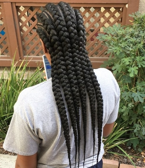 Big Cornrows Hairstyles For Afro American Women   Hairstyles Within Most Recently Cornrows Enclosed By Headband Braid Hairstyles (View 4 of 15)