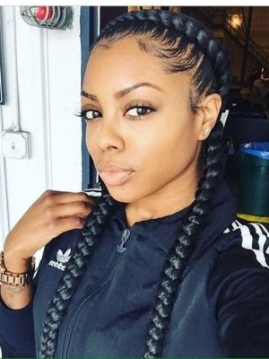Black Braided Hairstyles 2018 – Big, Small, African, 2 And 4 Cornrows For Most Recently Two Cornrows Hairstyles (View 10 of 15)