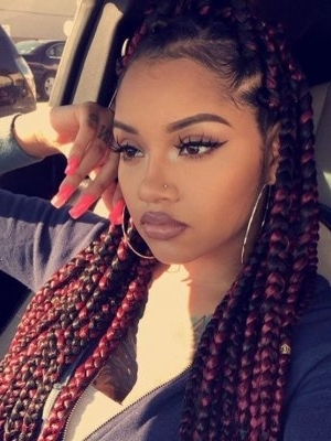 Black Braided Hairstyles 2018 – Big, Small, African, 2 And 4 Cornrows In 2018 Modern Cornrows Hairstyles (View 12 of 15)