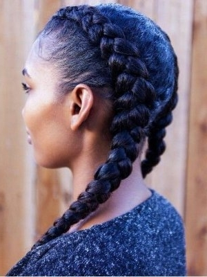 Black Braided Hairstyles 2018 – Big, Small, African, 2 And 4 Cornrows Inside Most Recently Big Cornrows Hairstyles (View 8 of 15)