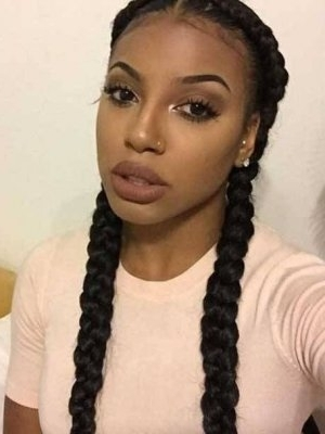 Black Braided Hairstyles 2018 – Big, Small, African, 2 And 4 Cornrows Throughout Most Up To Date Thick Cornrows Hairstyles (View 4 of 15)