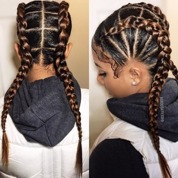 Black Girl Braided Hairstyles – 2017 Creative Hairstyle Ideas With Regarding Newest Creative Cornrows Hairstyles (View 10 of 15)
