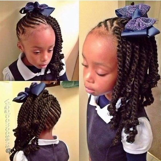 Black Girl Hairstyles For School Cute Cornrows And Braids For Little In Most Recently Cornrows Hairstyles For School (View 11 of 15)