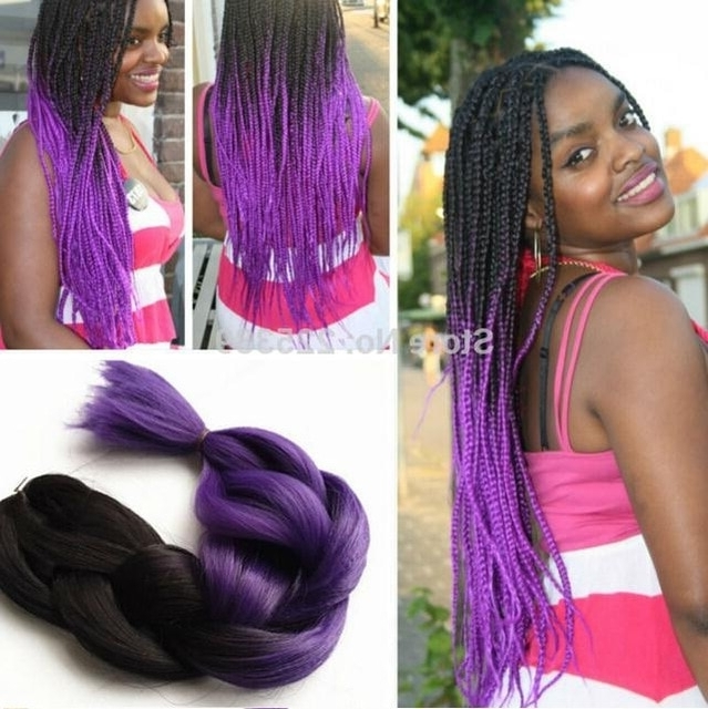 Featured Photo of Purple Highlights In Black Braids