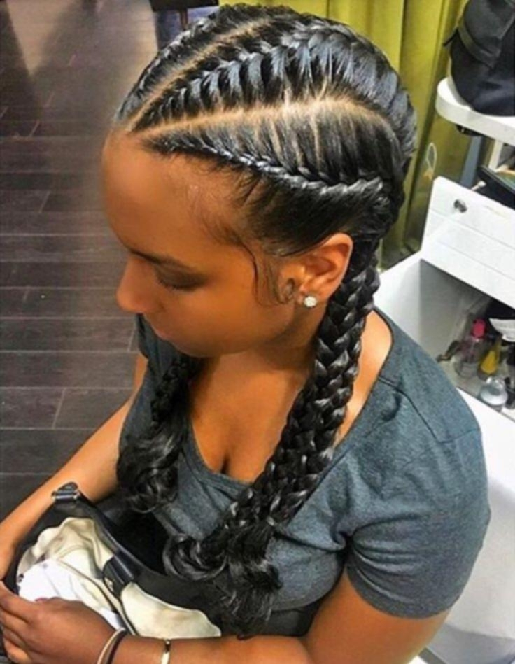 Black Hairstyles French Braids – Kitharingtonweb Intended For Most Popular Chunky Two French Braid Hairstyles (View 13 of 15)