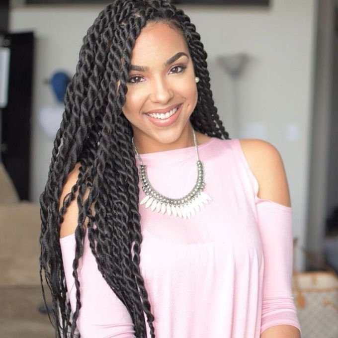 Black Hairstyles Twists 40 Chic Twist Hairstyles For Natural Hair Throughout Newest Twist From Box Braids Hairstyles (View 15 of 15)