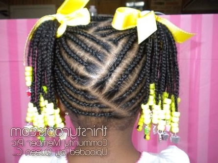 Black Little Girls Hair Styles | French Braid Connection | Pinterest With Regard To Most Recently Braided Hairstyles For Young Ladies (View 10 of 15)
