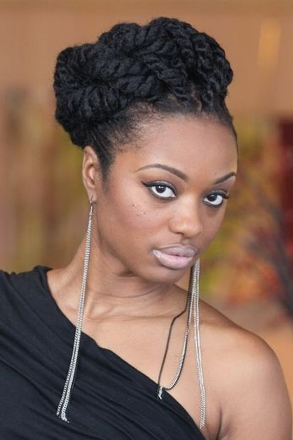 Black Updo Hairstyles, Check This Updo Hairstyles For Black Women Pertaining To 2018 Braided Up Hairstyles For Black Hair (View 11 of 15)