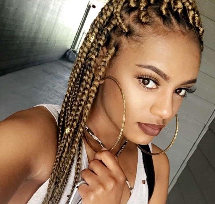Blonde Box Braids … | Braid 2 | Pinte… Throughout Latest Blonde Braided Hairstyles (View 12 of 15)