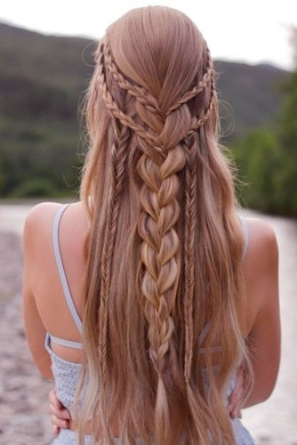 Bohemian Hairstyles 2018: 54 Best Boho Hairstyles Ideas | Ladylife With Newest Boho Braided Hairstyles (View 14 of 15)