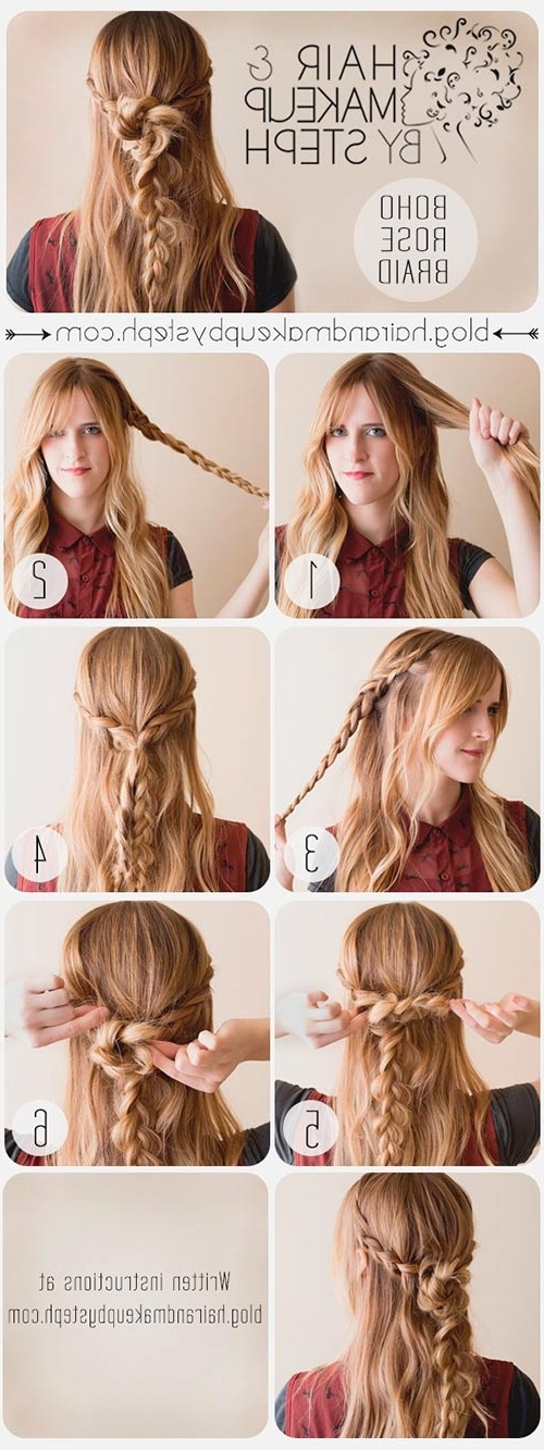 Boho Braided Hairstyles Tutorials | Hairstyles, Nail Art, Beauty And With Most Recent Boho Braided Hairstyles (View 11 of 15)