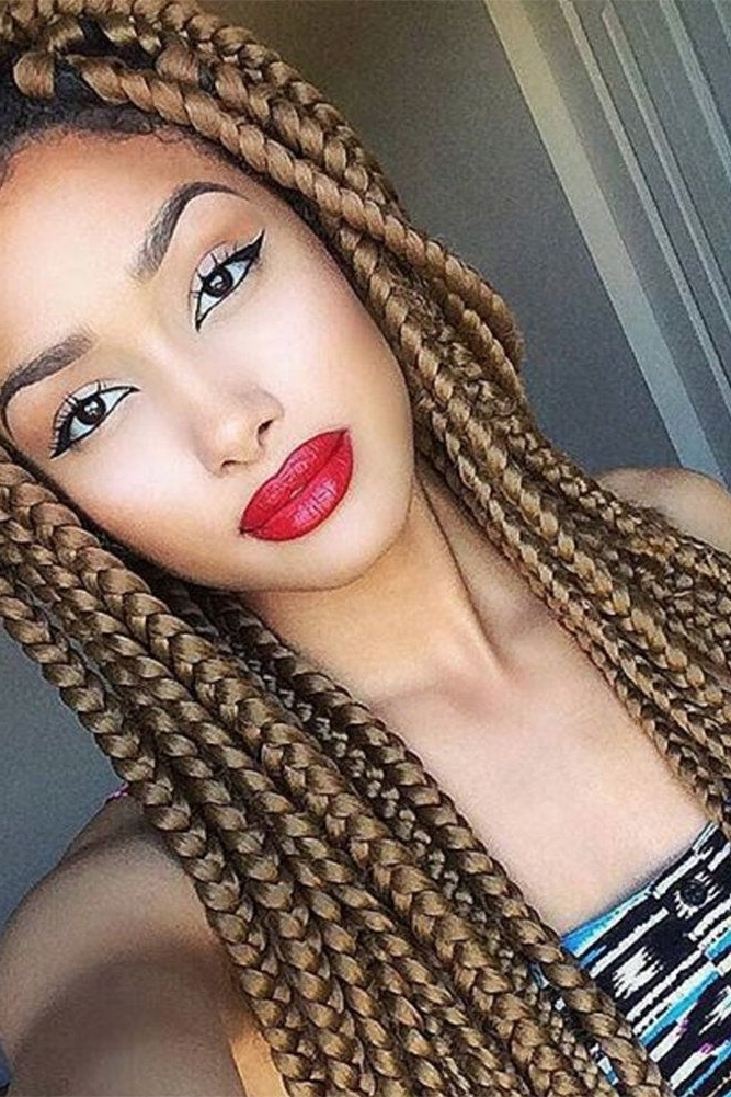 Bomb In Brown   Black Hairstyles For Women   Pinterest   Black Intended For Most Popular Minimalistic Fulani Braids With Geometric Crown (View 9 of 15)