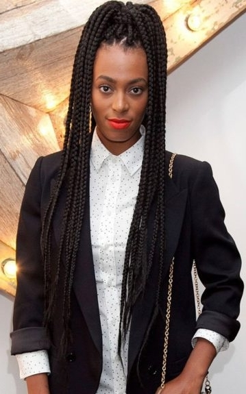 Box Braids Blowout: The Looks Then & Now – Ebony For Most Up To Date Ebony Braided Hairstyles (View 8 of 15)