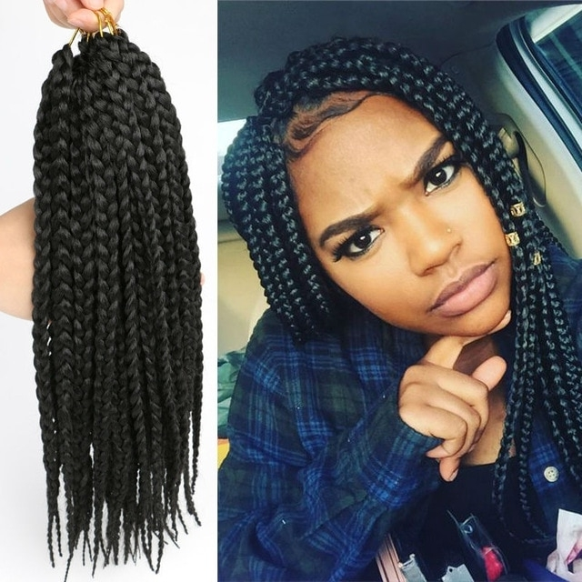 Box Braids Crochet Braids Synthetic Hair Jamaican Colored Hair Intended For Most Recent Jamaican Braided Hairstyles (View 2 of 15)