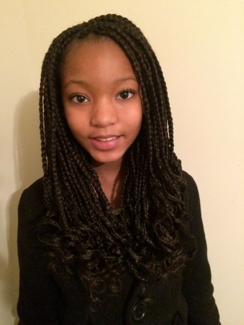 Box Braids For Kids – Google Search | My Girls Hair | Pinterest Intended For Newest Shoulder Length Loose Curls With Beaded Mini Fulani Braids (View 7 of 15)