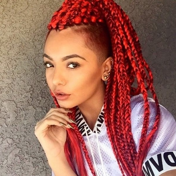 Box Braids Hairstyles, Hairstyles With Box Braids Intended For Most Up To Date Red Braided Hairstyles (View 12 of 15)