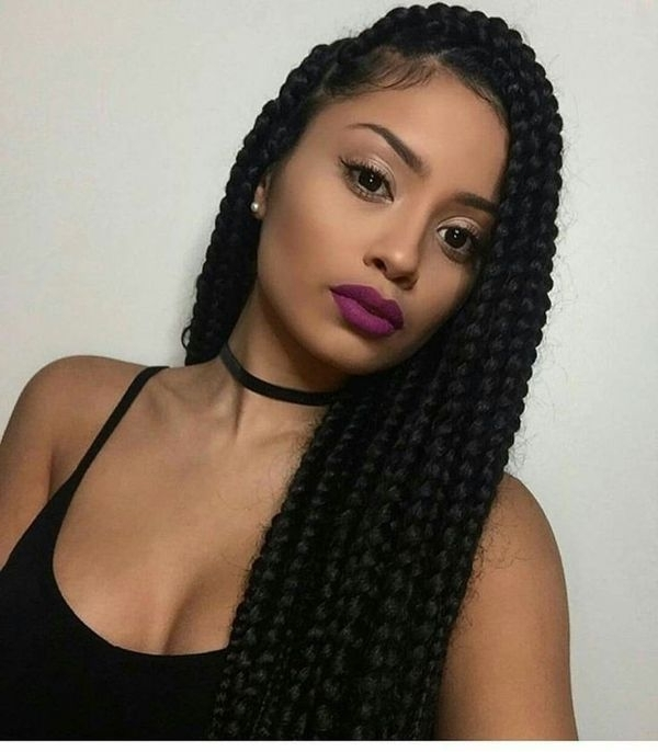 Box Braids Hairstyles, Hairstyles With Box Braids With 2018 Braided Hairstyles For Vacation (View 15 of 15)