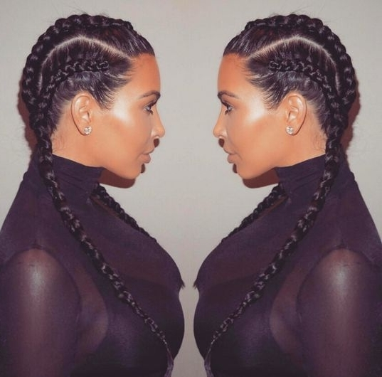 Boxer Braids Are The 'new Favorite' Hair Trend You've Definitely With 2018 Two Cornrow Boxer Braids (View 15 of 15)