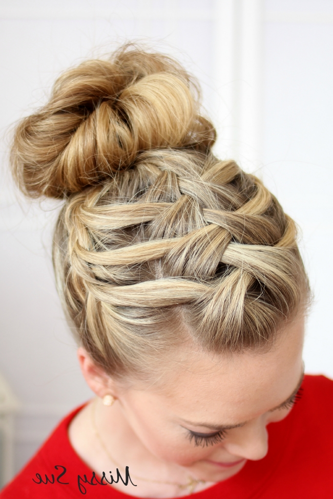 Braid 14 Triple French Braid Double Waterfall Throughout Current Double French Braid Crown Hairstyles (View 4 of 15)