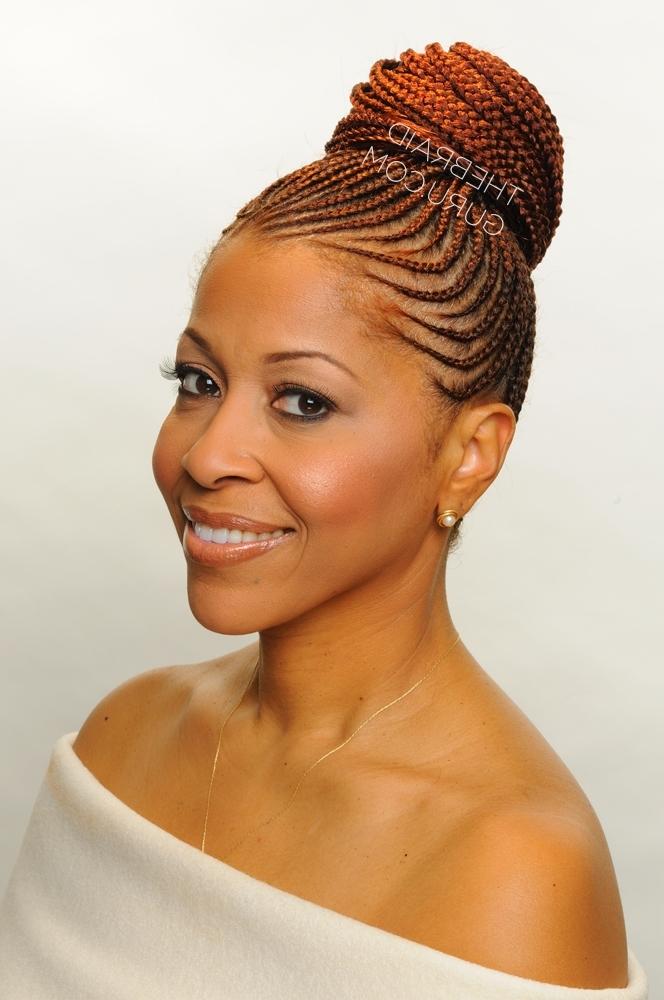 Braid Gallery – The Braid Guru Inside Latest Cornrows Hairstyles With Buns (View 11 of 15)