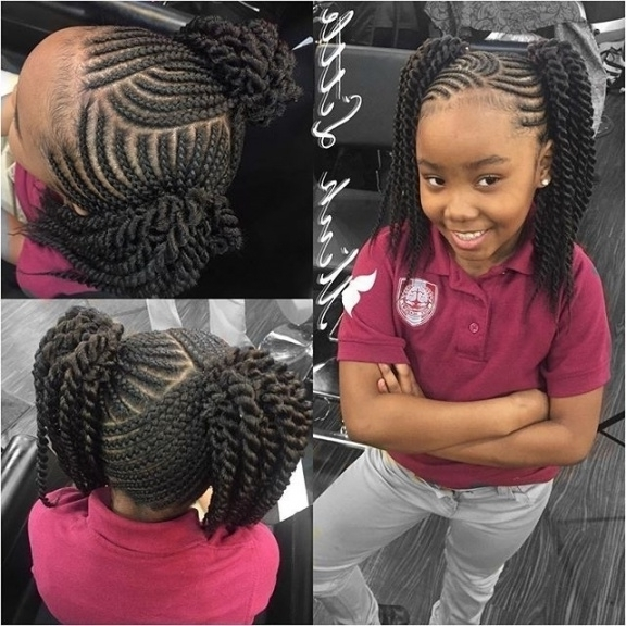 Braid Hairstyles For Little Black Girls | Anyomax Intended For Girls With Current Black Girl Braided Hairstyles (View 3 of 15)