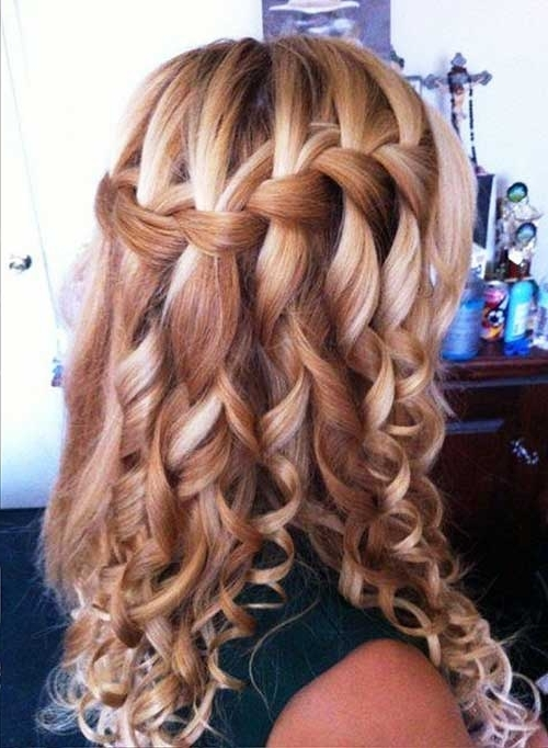 Braid Hairstyles For Prom Long Hair Waterfall Braid Prom Long Hair With Regard To Current Braided Hairstyles For Homecoming (View 15 of 15)