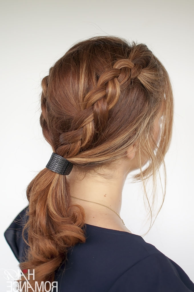 Braid Tutorial – Two Ways And Two Accessories – Hair Romance In Current Two Quick Braids And Ponytail (View 12 of 15)