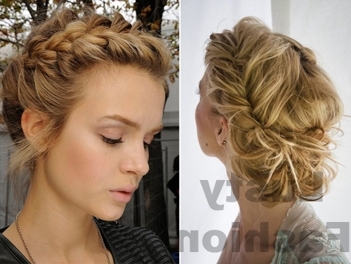 Braid Updo Hairstyles – Lustyfashion Throughout 2018 Braided Evening Hairstyles (View 15 of 15)