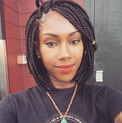 Braided Bob Hairstyles African American: There Are Millions Of Cute With Regard To Most Current Bob Braided Hairstyles (View 1 of 15)