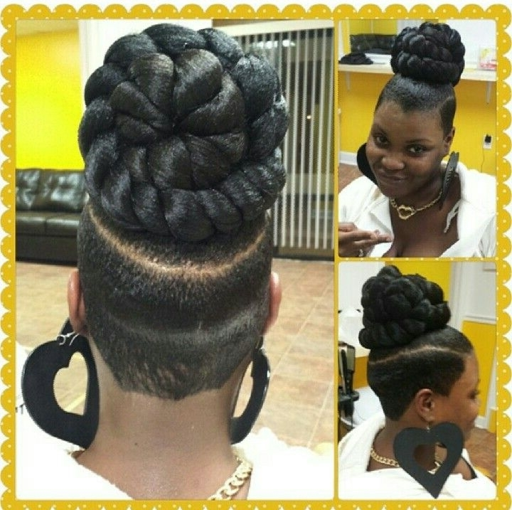 Braided Bun Black Hairstyles Exciting – Heavydutytime Pertaining To Newest Braided Hairstyles With Tapered Sides (View 10 of 15)