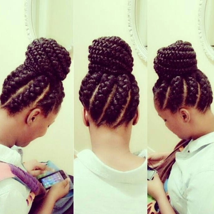 Braided Bun Black Hairstyles ~ Usecforce With Most Up To Date Large Braided Updos (View 5 of 15)