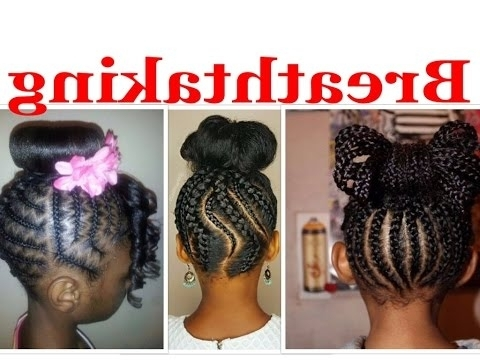 Braided Bun Hairstyles For Kids That You Will Definitely Like – Youtube Throughout Most Recent Black Braided Bun Updo (View 12 of 15)