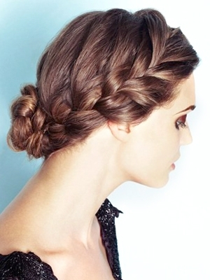 Braided Bun Prom Hairstyle – Having Kids With Regard To 2018 Formal Braided Bun Updo Hairstyles (View 6 of 15)
