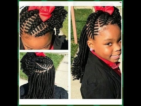 Braided Cornrow Hairstyles For Kids : You Will Love Them All – Youtube Inside 2018 Cornrow Hairstyles For Black Hair (View 11 of 15)