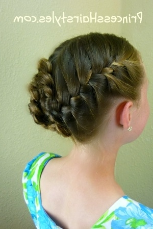 Braided Flower Updo, Easter Hairstyles – Hairstyles For Girls For Most Recent Easter Braid Hairstyles (View 7 of 15)