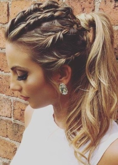 Braided Glam Hairstyle French Braid Ponytails Regarding Most Recent Braided Glam Hairstyles (View 8 of 15)