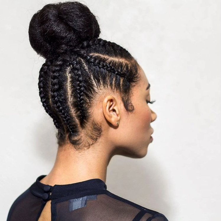 Braided Hairstyle Ideas & Inspiration For Black Women Easy Of Intended For Latest Braided Hairstyles Into A Bun (View 4 of 15)