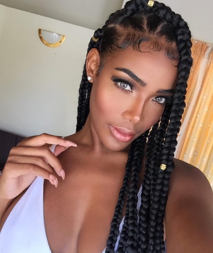 Braided Hairstyle Ideas & Inspiration For Black Women   Hairstyle Guru Inside Most Up To Date Chunky Cornrows Hairstyles (View 12 of 15)