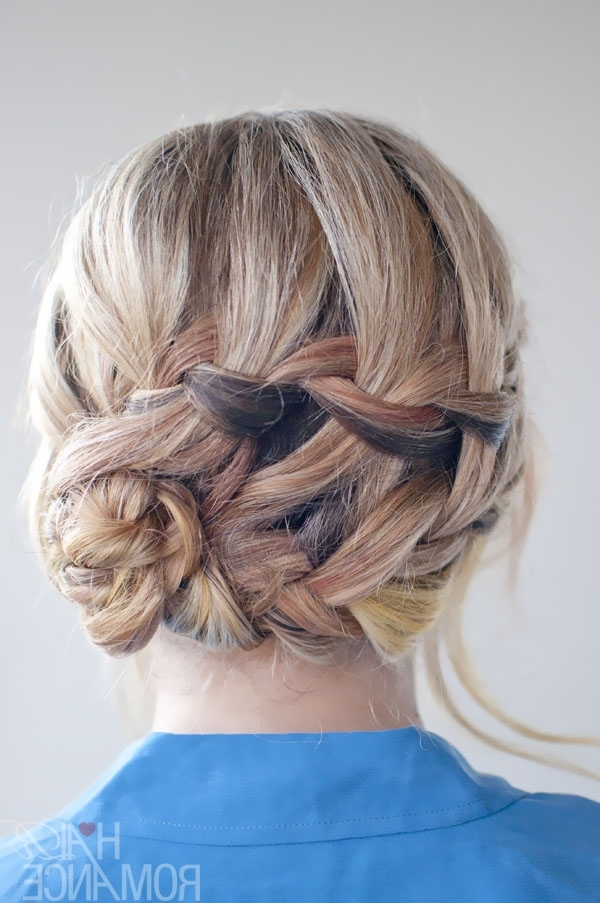 Braided Hairstyle Inspirations: The Double Waterfall Braid Updo With Regard To Most Current Double Braids Updo Hairstyles (View 2 of 15)