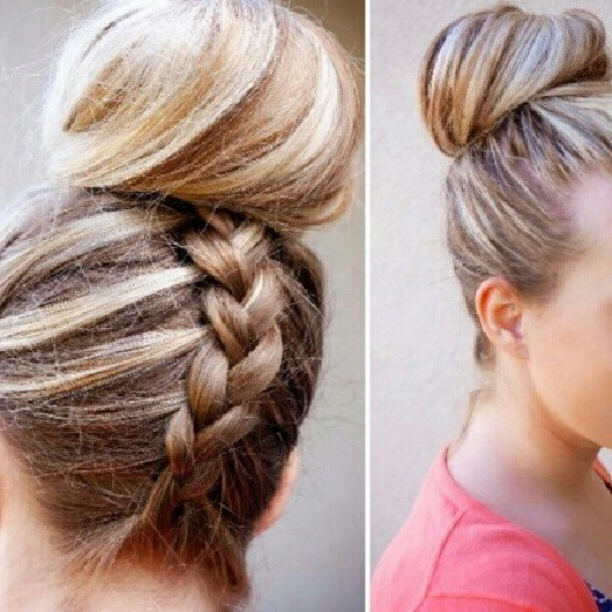 Braided Hairstyles – Bun + Fancy Braid Pictures, Photos, And Images With Most Recently Bun Braided Hairstyles (View 10 of 15)