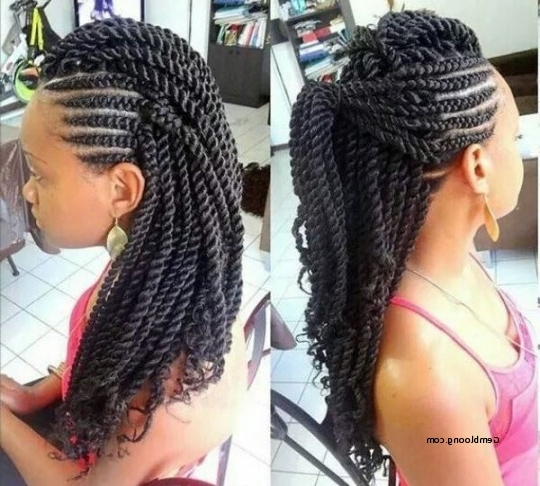 Braided Hairstyles For Black Women With Relaxed Hair Best Of Braided With Regard To Latest Braided Hairstyles For Relaxed Hair (View 2 of 15)
