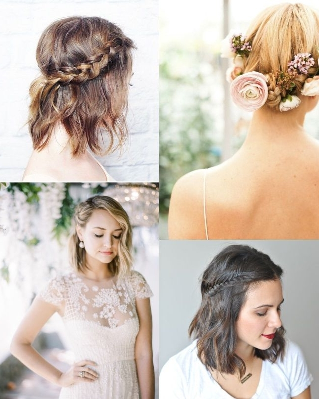Braided Hairstyles For Brides With Short Hair | Big Day Pertaining To Best And Newest Braided Hairstyles For Bridesmaid (View 12 of 15)