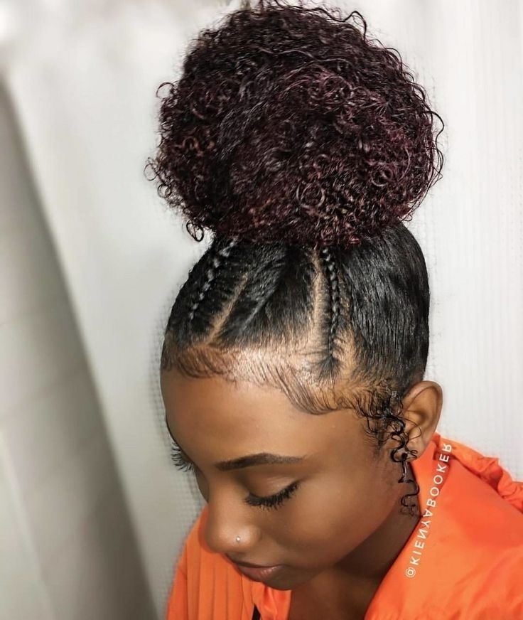 Braided Hairstyles For Natural Hair – Zyczenia24 Intended For Most Up To Date Braided Hairstyles With Real Hair (View 8 of 15)