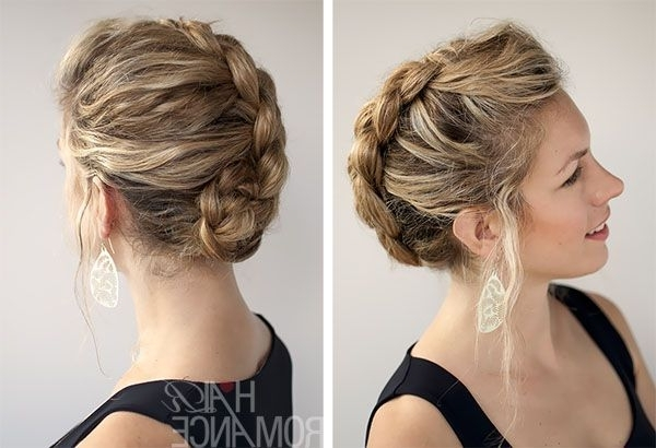 Braided Hairstyles For Short Hair, Braids For Short Hair In Recent Braided Updo Hairstyles For Short Hair (View 6 of 15)