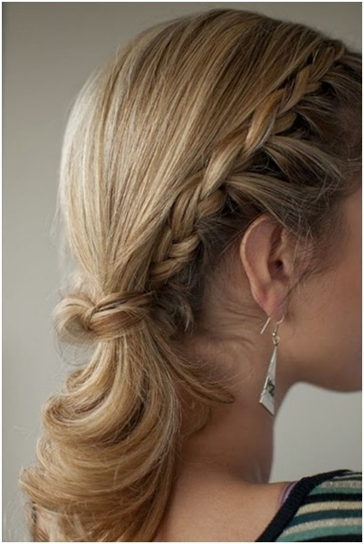 Braided Hairstyles In A Ponytail: Medium – Long Hair – Popular Haircuts Within Newest Braided Hairstyles For Layered Hair (View 5 of 15)